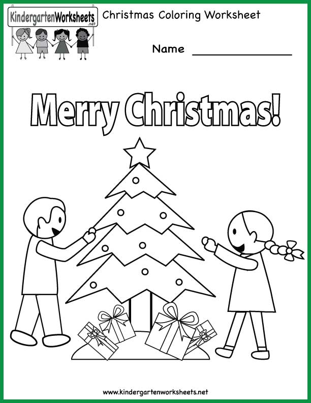 merry christmas from the kindergarten worksheets team - Holiday Worksheets For Kindergarten