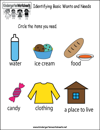 Kindergarten Social Studies Worksheet