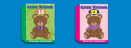 Numbers and Alphabet Worksheets Collections