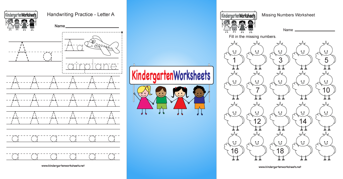 Kindergarten Worksheets Free Printable For Teachers And Parents: Kinder Garden Worksheets At Alzheimers-prions.com