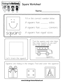 Free Kindergarten Shapes Worksheets - Trace, Identify, and ...
