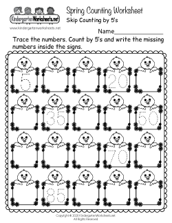 Spring Counting Worksheet