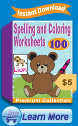 Premium Spelling and Coloring Worksheets Collection