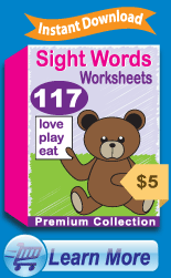 Premium Sight Words Worksheets Collection