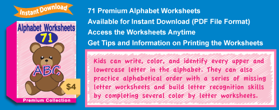 Premium Alphabet Worksheets Collection Details