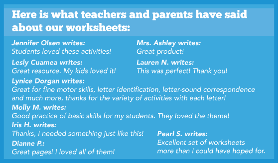 Here is what teachers and parents have said about our worksheets.