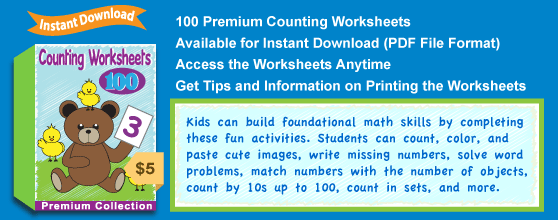 Premium Counting Worksheets Collection Details