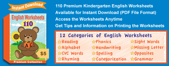 Premium English Worksheets Collection Details