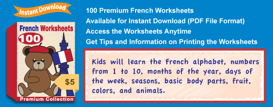 Premium French Worksheets Collection from the Kindergarten