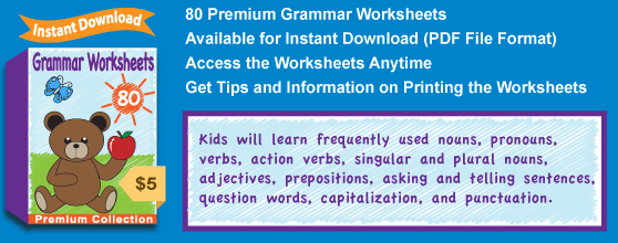 Premium Grammar Worksheets Collection Details