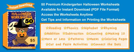 Premium Halloween Worksheets Collection Details
