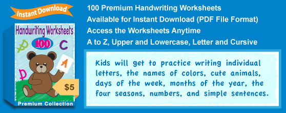 Premium Handwriting Worksheets Collection Details