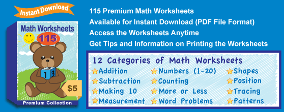 Premium Math Worksheets Collection from the Kindergarten Worksheets ...