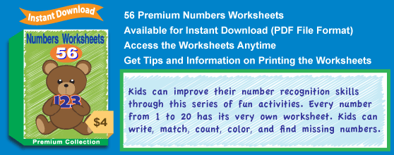 Premium Numbers Worksheets Collection Details