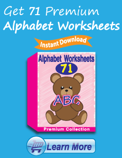 Get the Premium Alphabet Worksheets Package