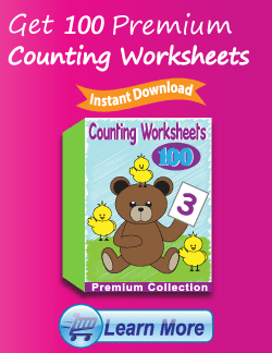Get the Premium Counting Worksheets Package