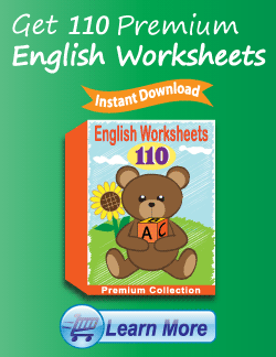 Get the Premium English Worksheets Package