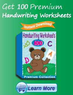 Get the Premium Handwriting Worksheets Package