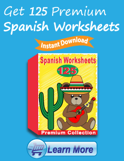 Get the Premium Spanish Worksheets Package