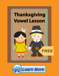 Get the Thanksgiving Vowel Lesson Package