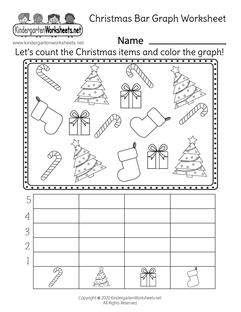 math worksheet : christmas bar graph worksheet  free kindergarten holiday  : Kindergarten Christmas Worksheet