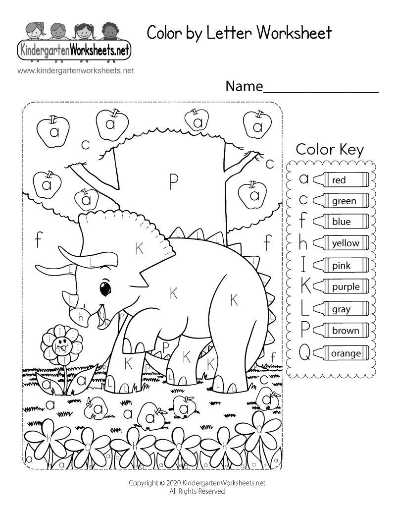 Kindergarten Coloring Worksheet Printable