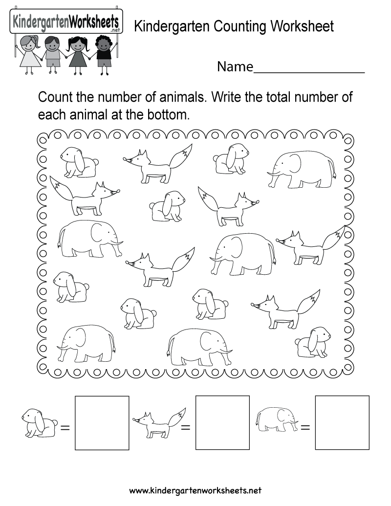 picture regarding Free Printable Counting Worksheets known as Counting Worksheets For Kindergarten Free of charge - math counting