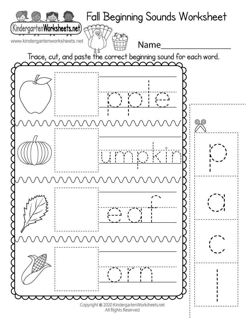 Free Printable Worksheets For Kindergarten Pdf