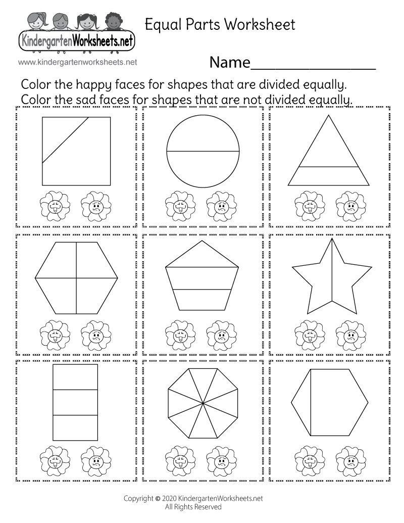 fraction worksheet activities free kindergarten math worksheet for kids. Black Bedroom Furniture Sets. Home Design Ideas
