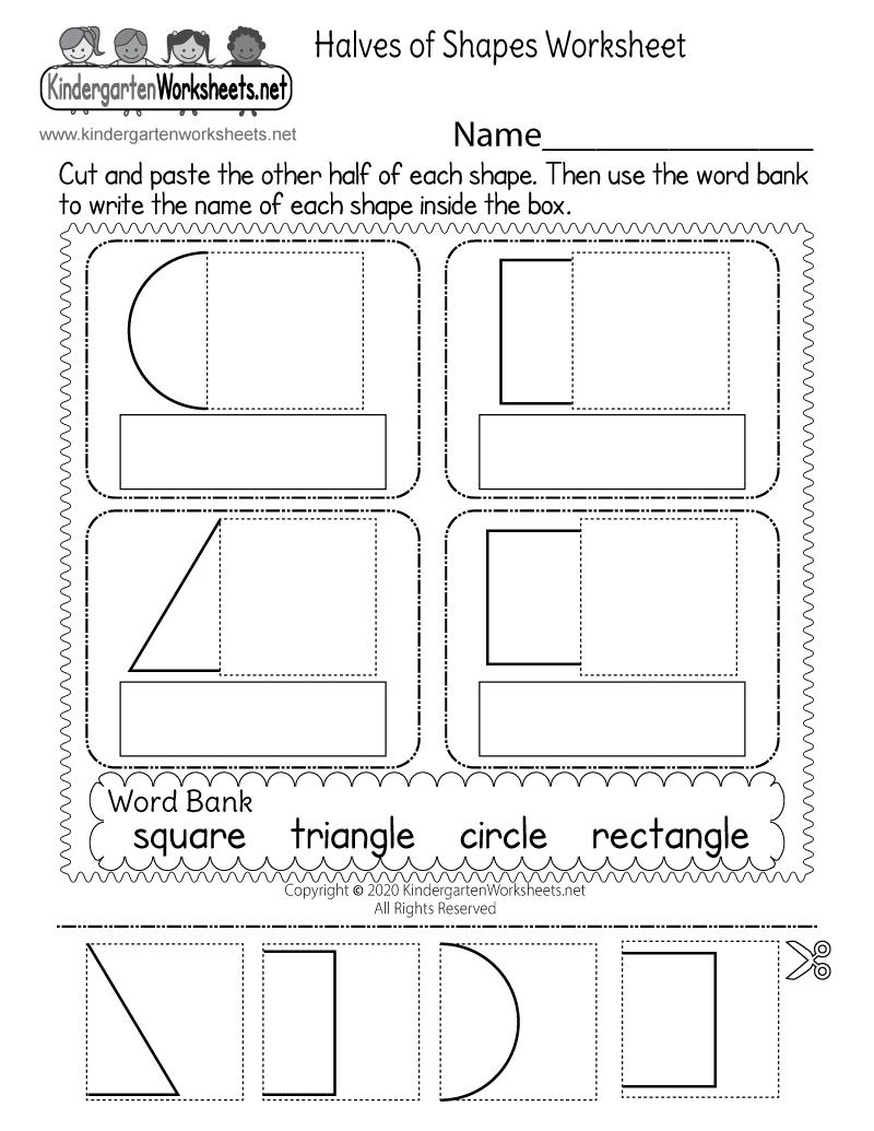 - Fun Fraction Worksheet - Free Kindergarten Math Worksheet For Kids