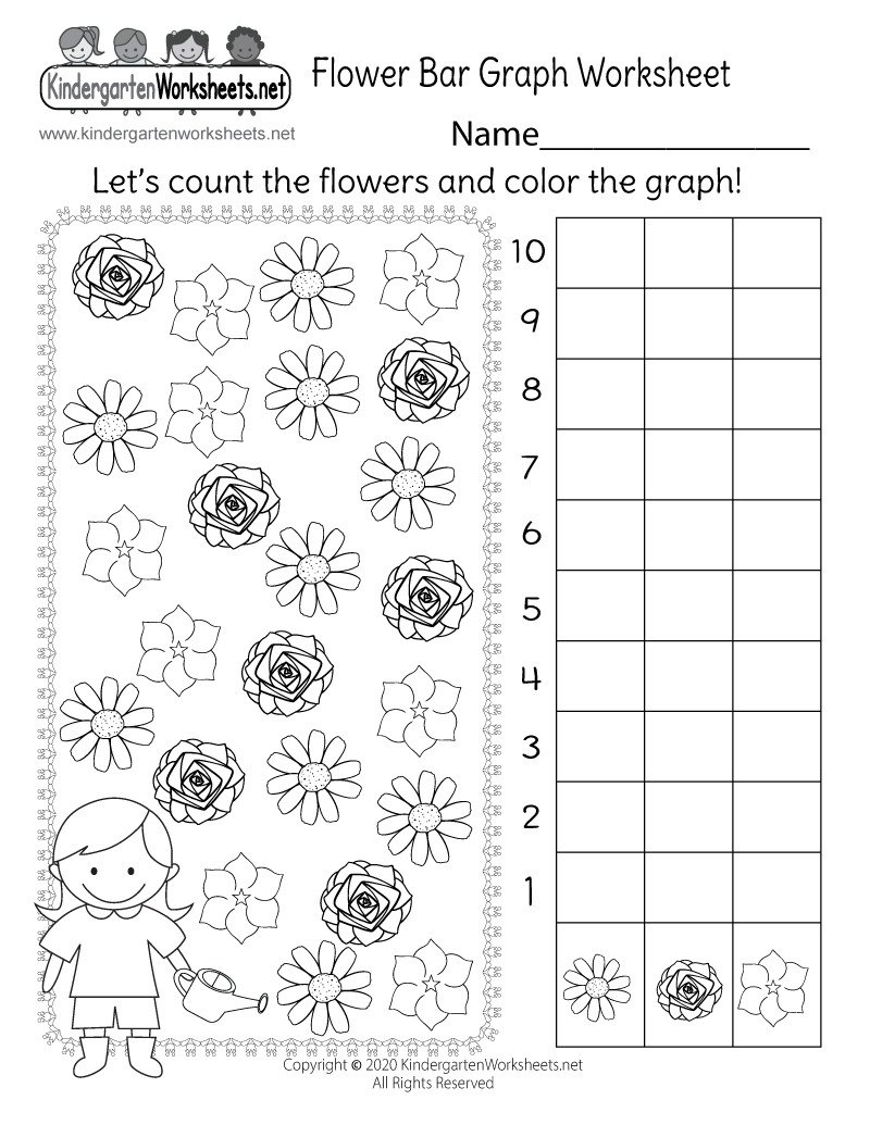 Bar Graphs For Kindergarten Worksheets