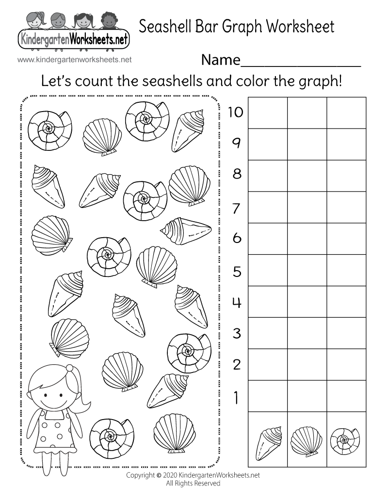 kindergarten bar graph worksheet - free math worksheet for kids