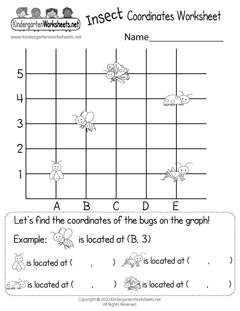 Kindergarten Math Coordinates Worksheet - Free Kindergarten Math ...
