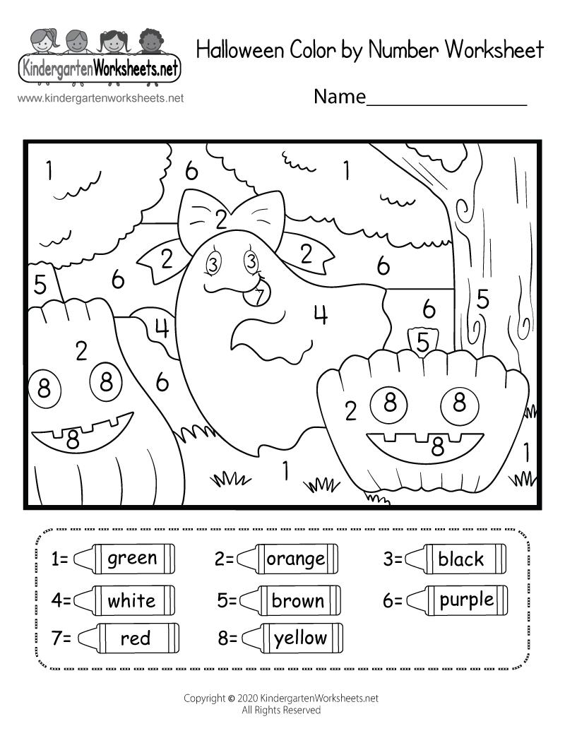 Halloween Coloring Worksheet