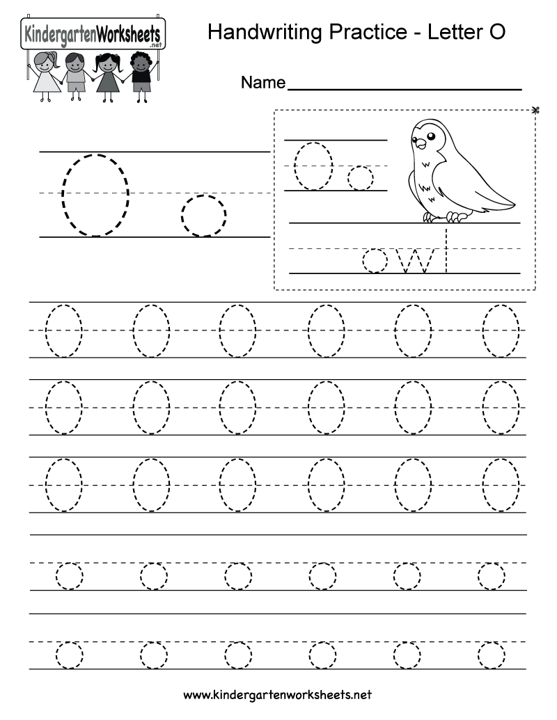 Free Printable Letter O Writing Practice Worksheet for Kindergarten – Letter O Worksheets Kindergarten
