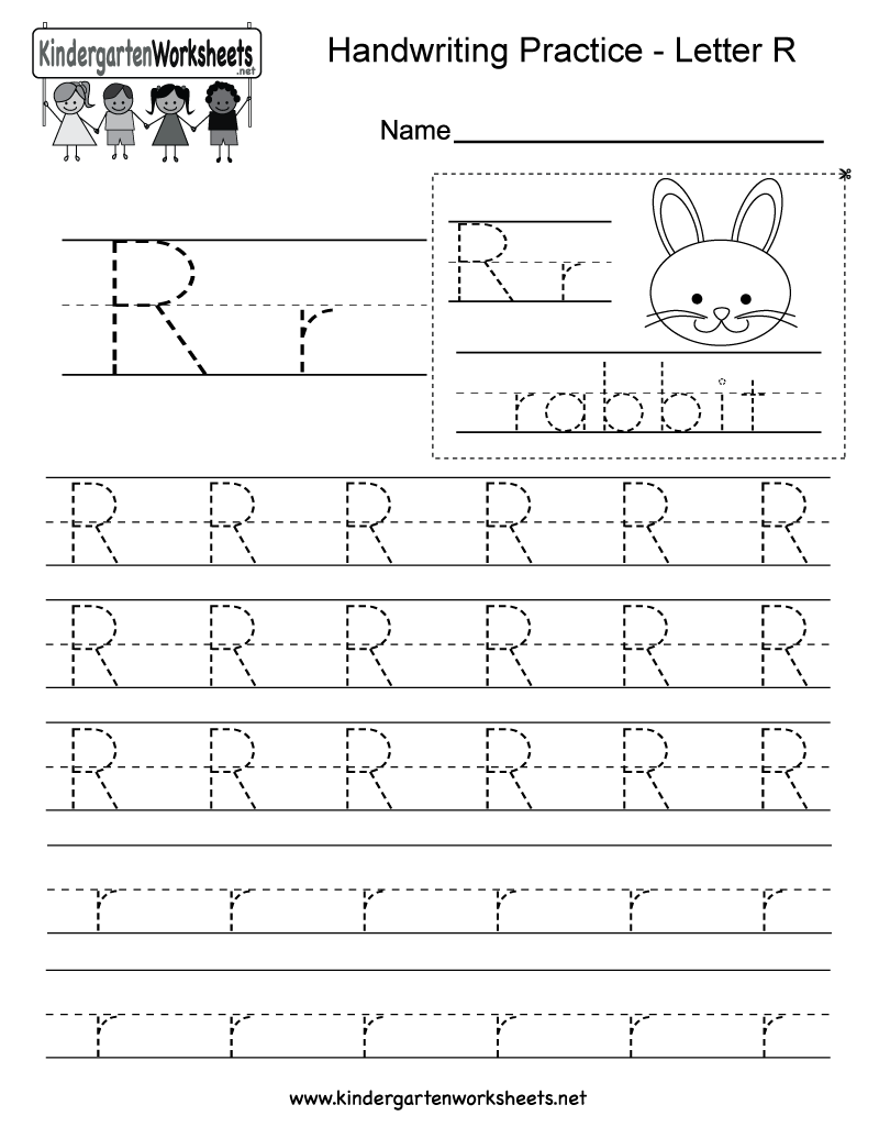 Letter R Writing Practice Worksheet Free Kindergarten