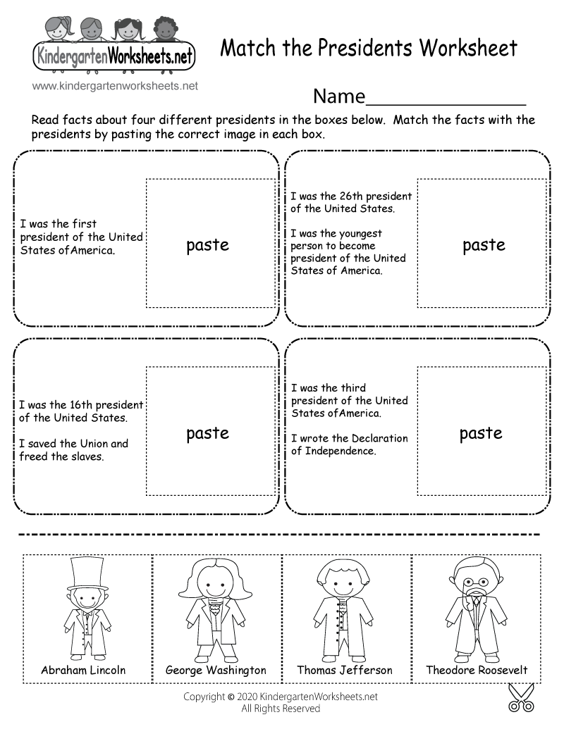 graphic regarding Printable Pictures of Presidents referred to as Absolutely free Printable Sport the Presidents Worksheet for Kindergarten