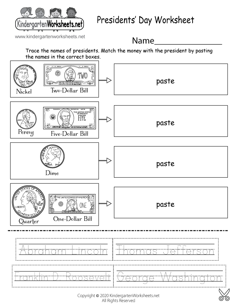image regarding Free Printable Presidents Day Worksheets identify No cost Printable Presidents Working day Discovering Worksheet for