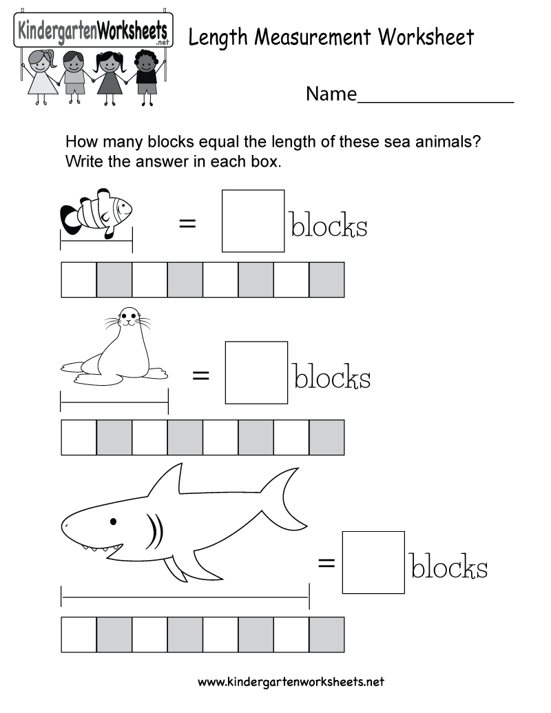 length measurement worksheet for kindergarten. Black Bedroom Furniture Sets. Home Design Ideas
