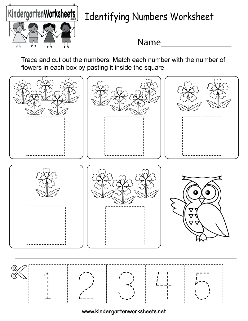 Identifying Numbers Worksheet - Free Kindergarten Math Worksheet for ...