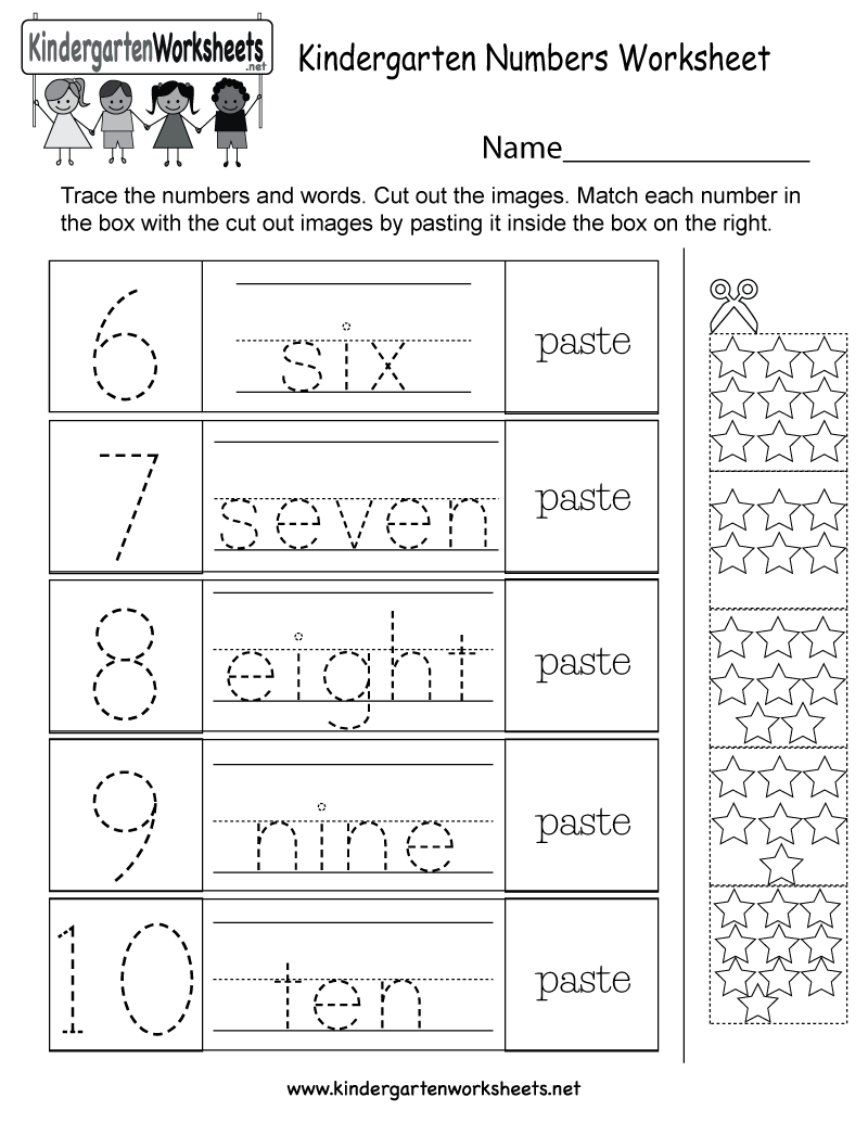 Kindergarten Numbers Worksheet - Free Kindergarten Math Worksheet ...