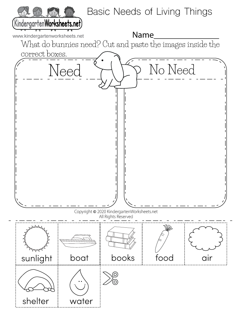 Free Kindergarten Science Worksheets - Learning the basics of science.