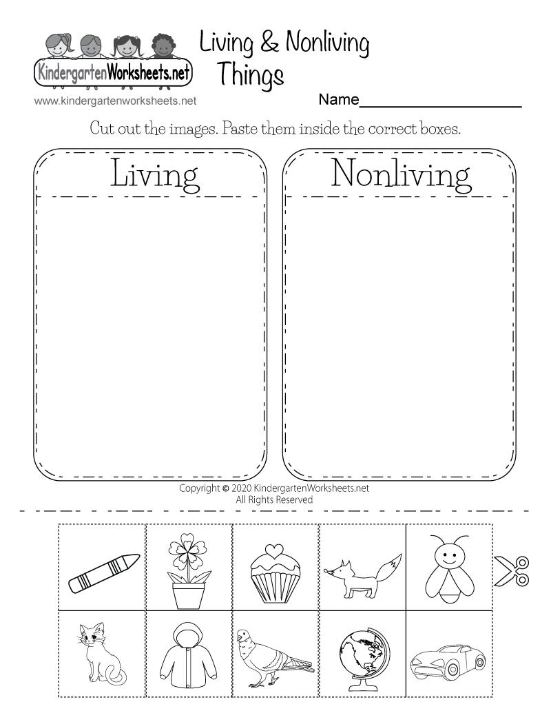 life science worksheet free kindergarten learning worksheet for kids. Black Bedroom Furniture Sets. Home Design Ideas