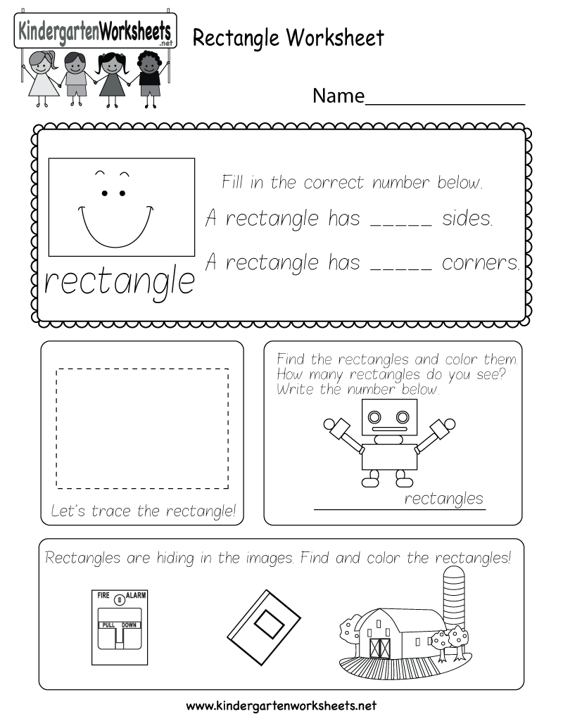 rectangle worksheet free kindergarten geometry worksheet for kids. Black Bedroom Furniture Sets. Home Design Ideas