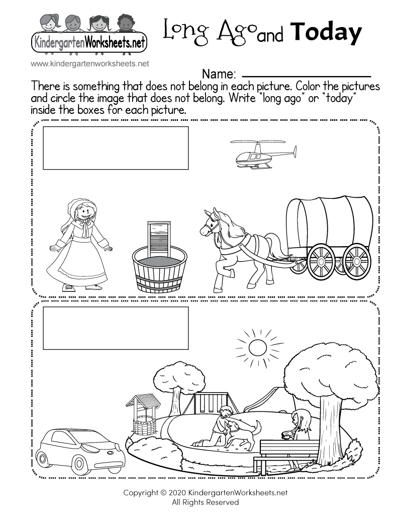 Kindergarten social studies worksheet printable