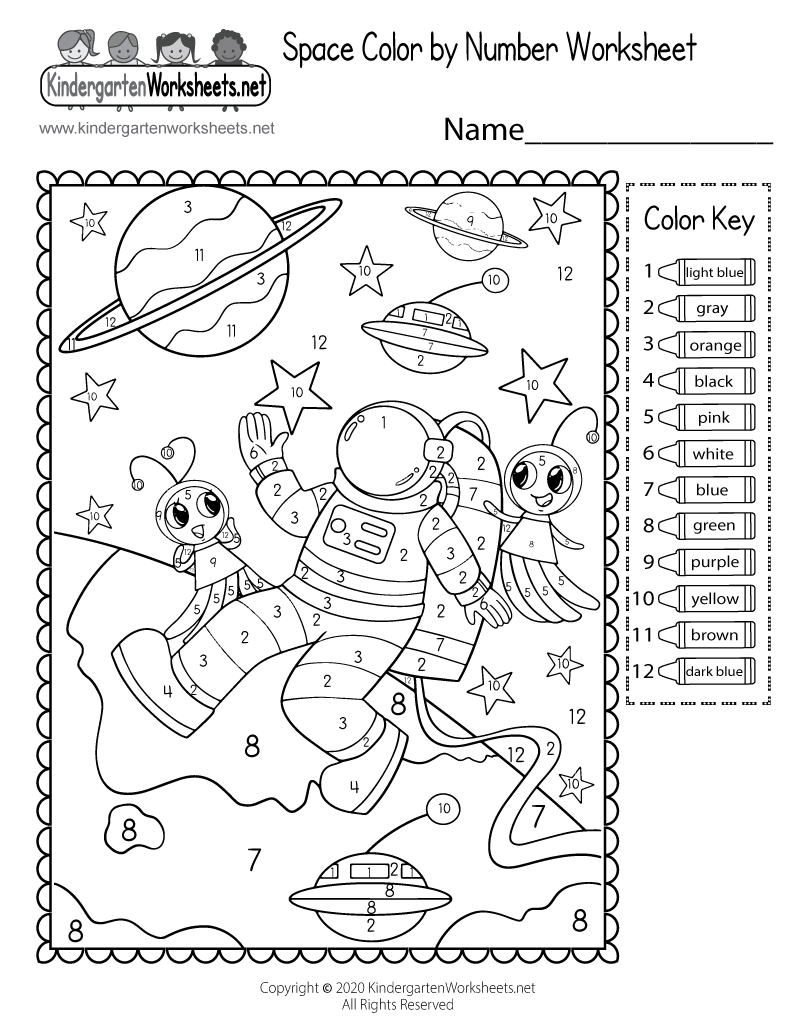 math worksheet : stars and pla s space worksheet  free kindergarten learning  : Space Worksheets For Kindergarten