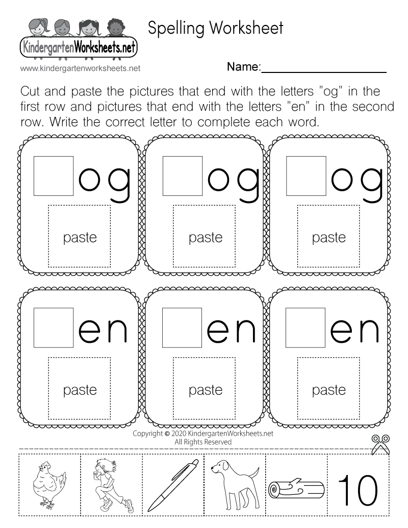 Learn Spelling Worksheet Free Kindergarten English Worksheet For Kids