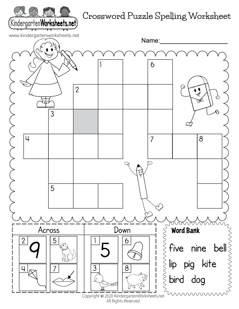 Printable Spelling Worksheet - Free Kindergarten English Worksheet ...