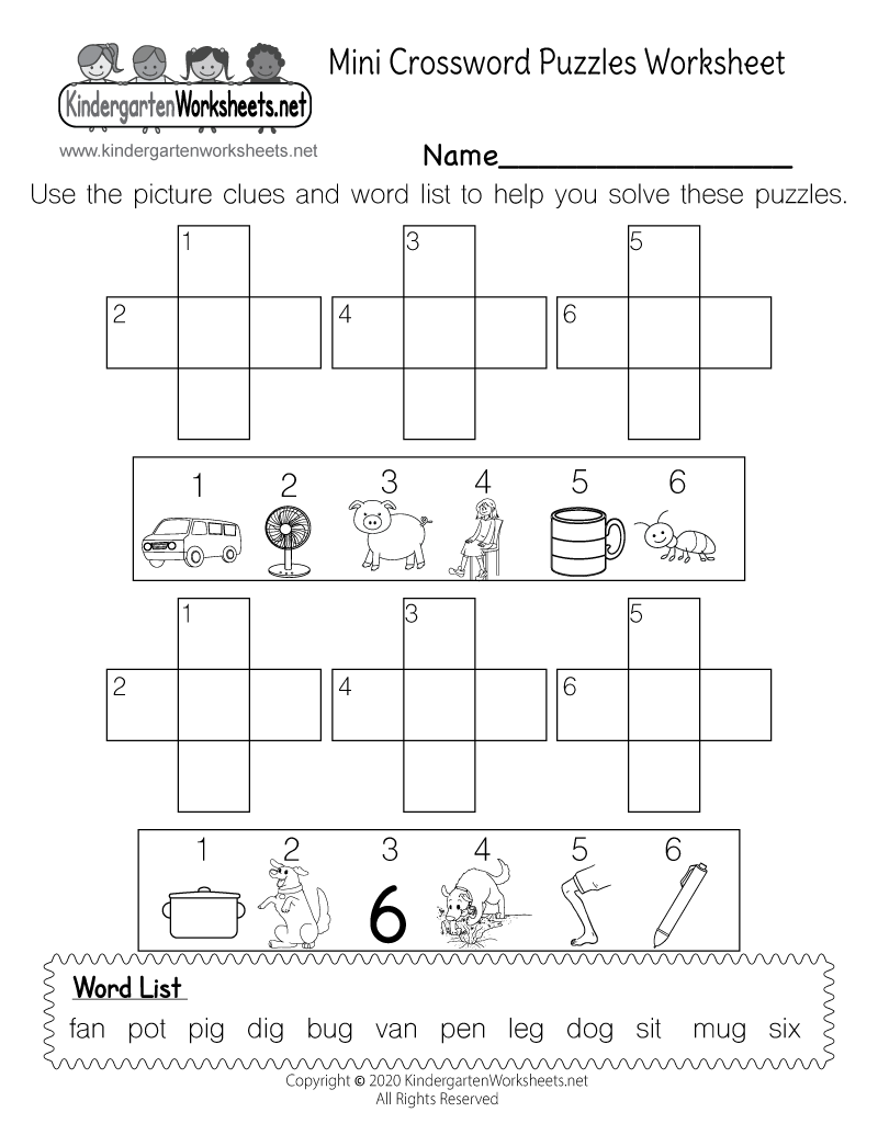 Free Kindergarten Spelling Worksheets - Learning to correctly ...