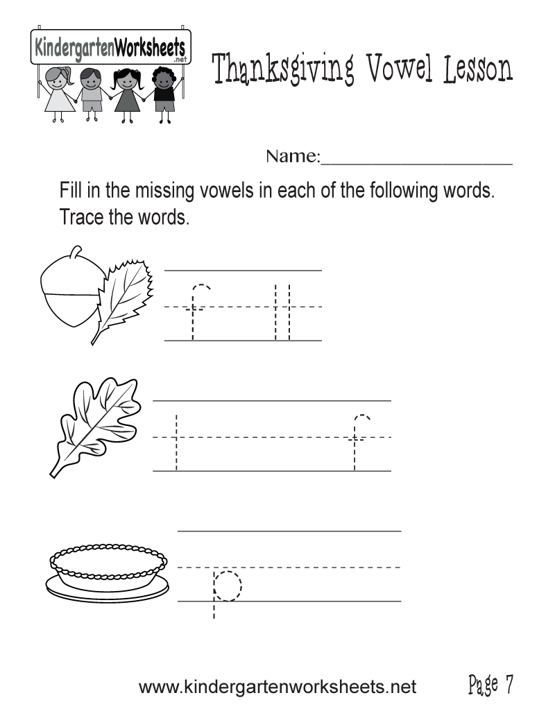 complete the words with missing vowels worksheet thanksgiving vowel lesson page 7. Black Bedroom Furniture Sets. Home Design Ideas